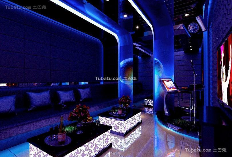 ktv现代设计室内装修效果图