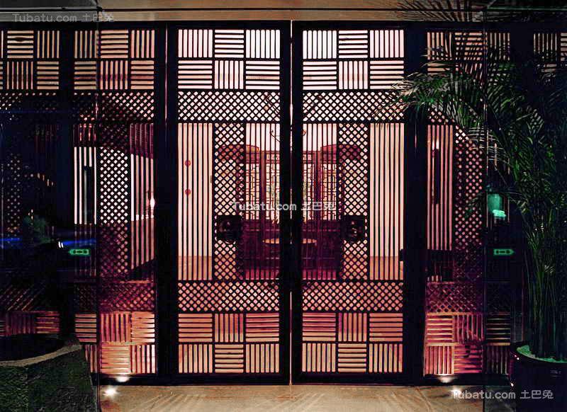 酒店设计中式风格隔断装修图片