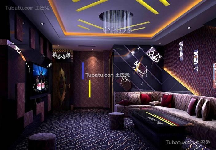 时尚ktv设计室内装修效果图