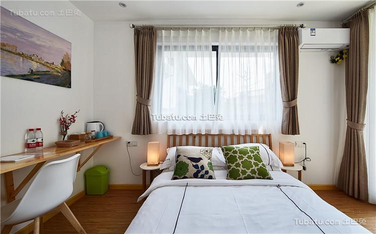 自然清新北欧卧室布置