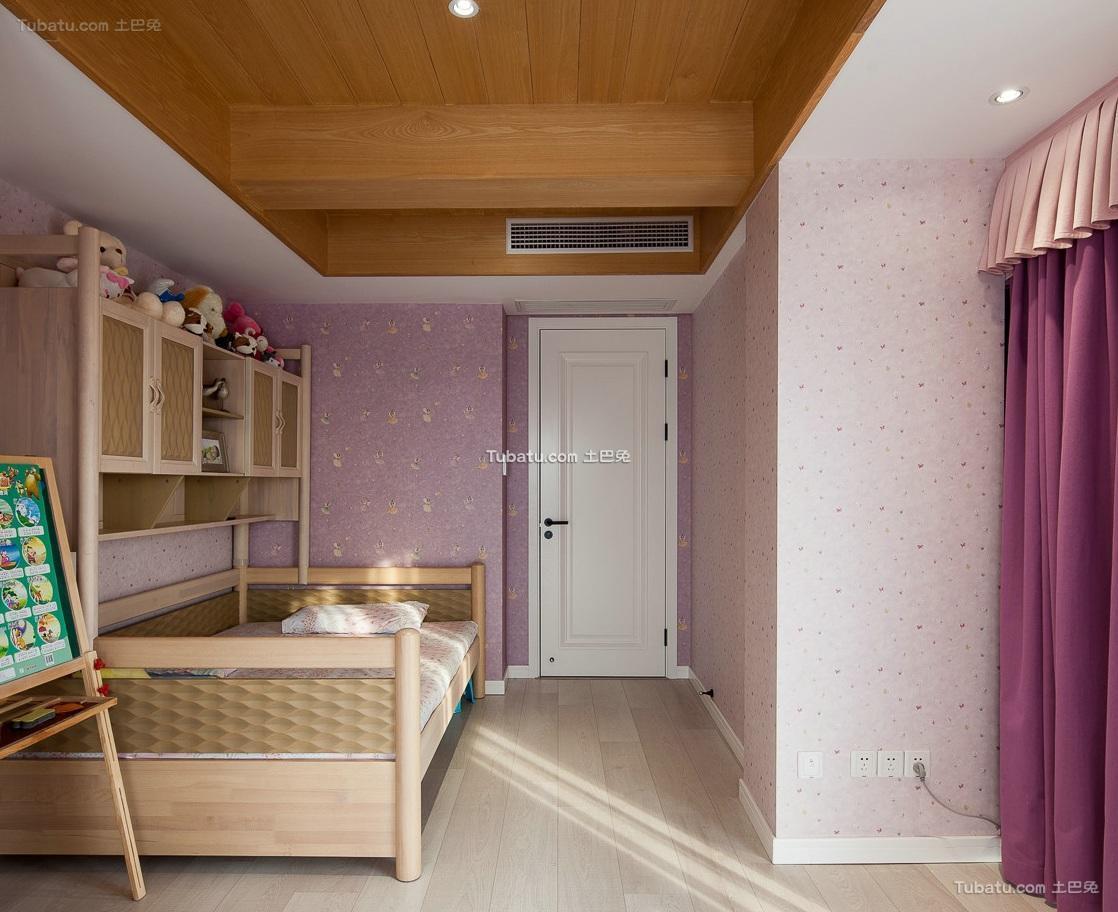 现代复古风格复式家居儿童房效果图