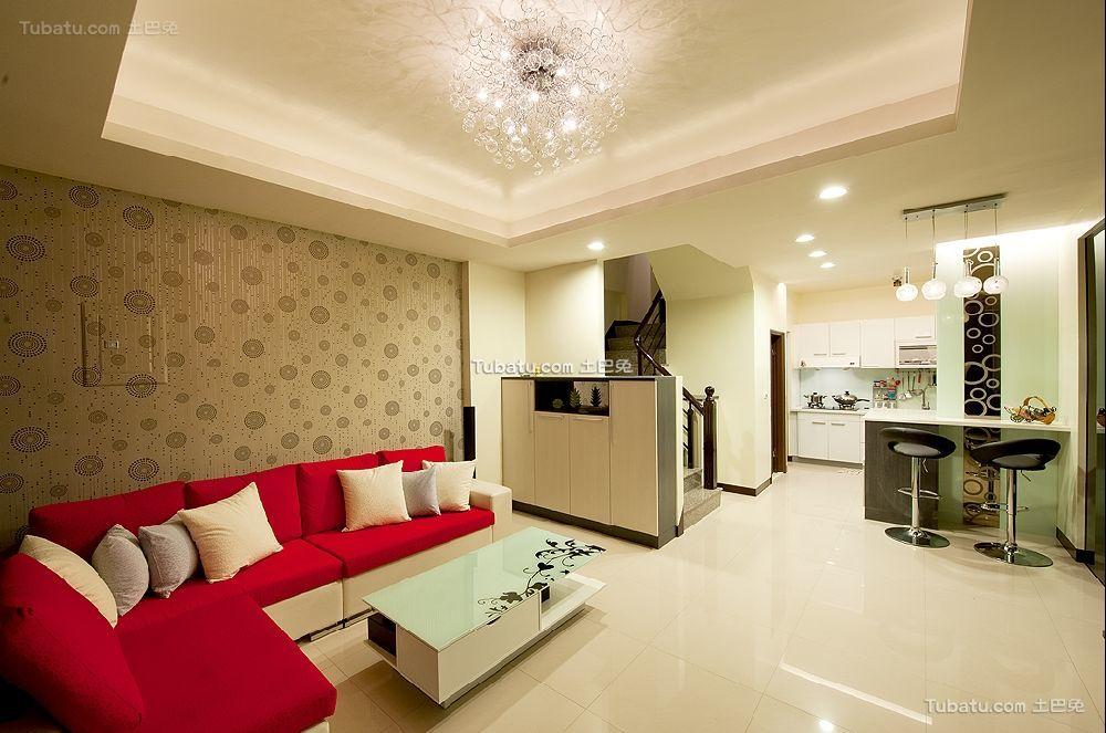 现代时尚装潢设计客厅效果图