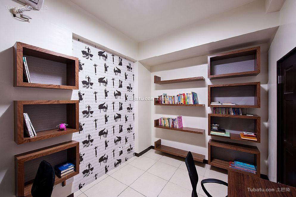 现代时尚装潢设计书房效果图