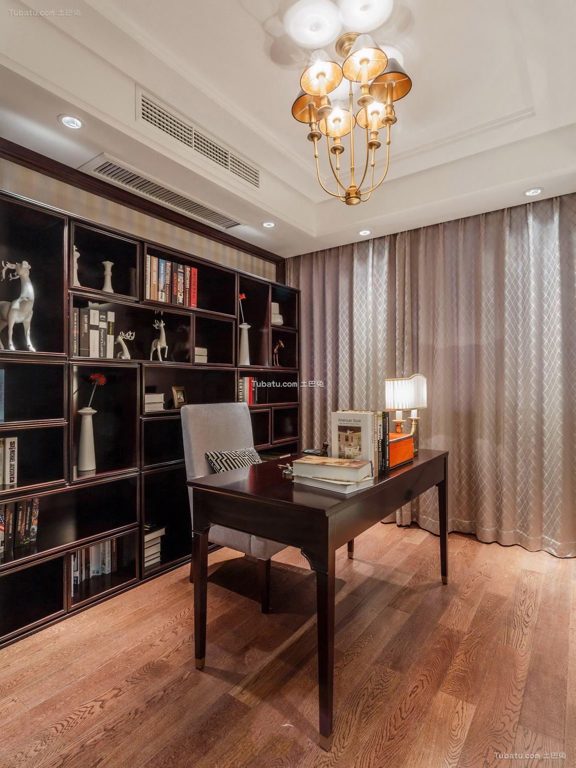 美式风格书房室内装修效果图片