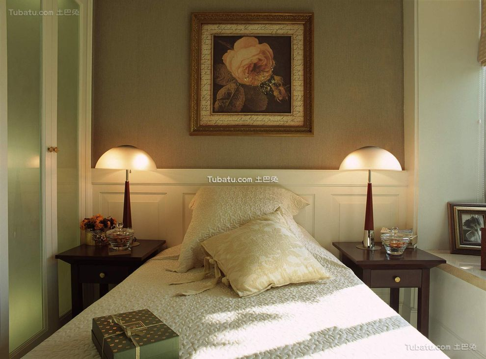 复古简欧卧室设计