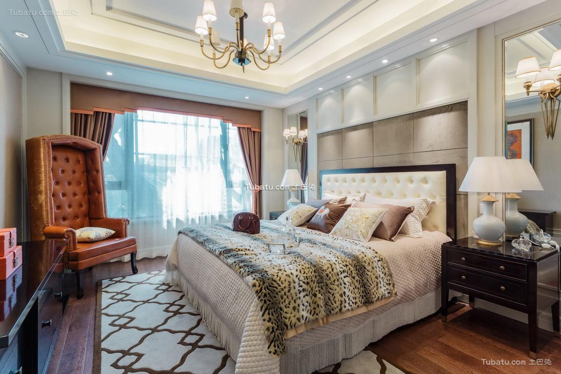 美式风格卧室室内装修效果图片