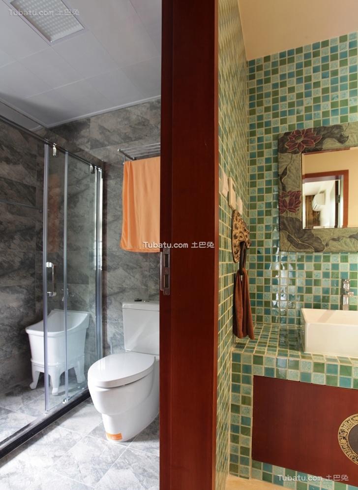 中式现代卫生间装饰效果图