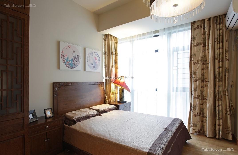 中式古典卧室设计效果图