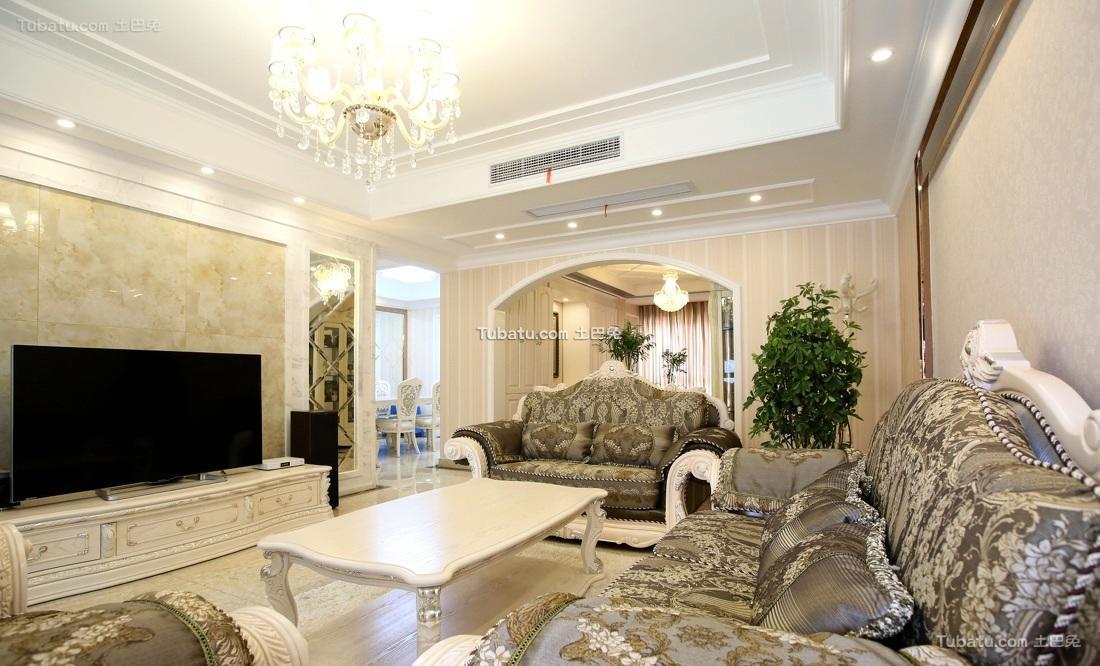 150平欧式三居装饰