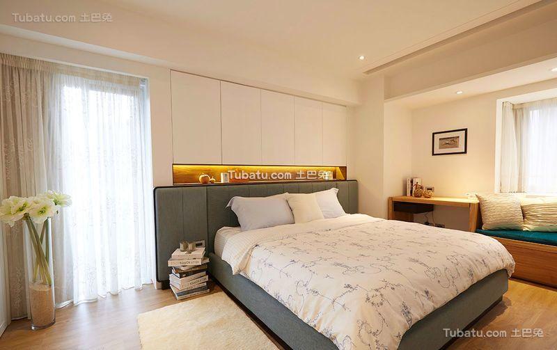 简约美式风格卧室设计装修图片