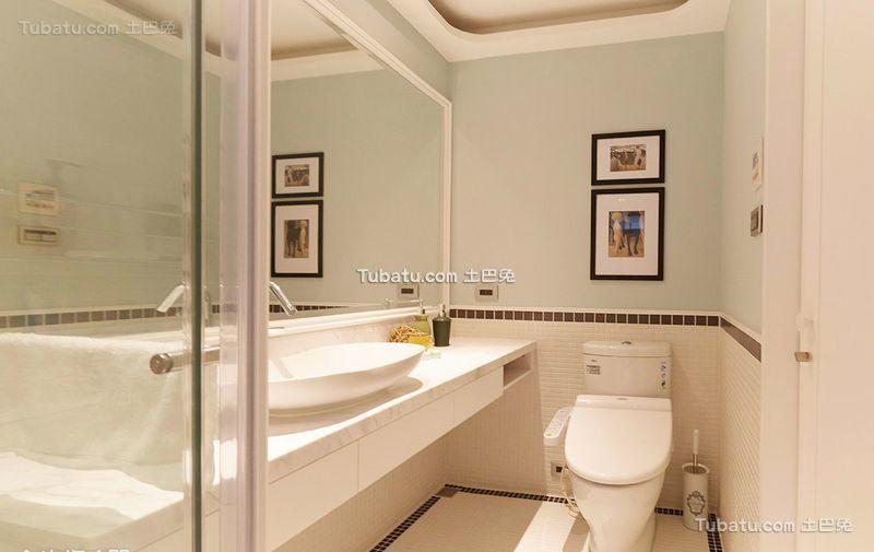 美式家居卫生间设计装修图片