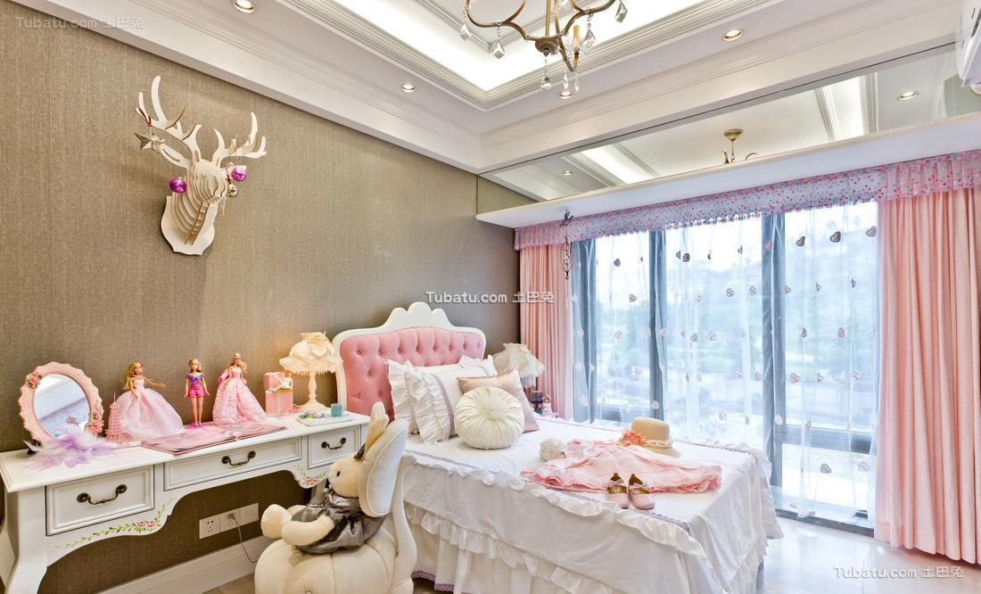 粉色浪漫简欧儿童房装饰