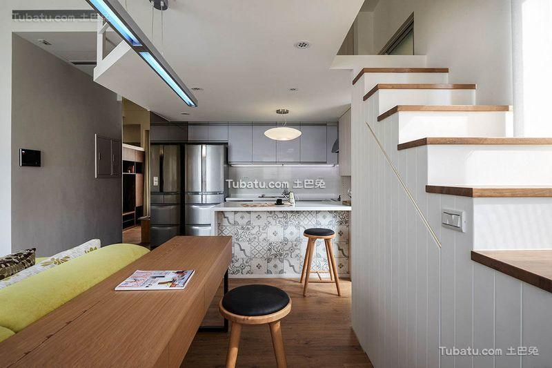 现代风格小别墅室内餐厅设计效果图片