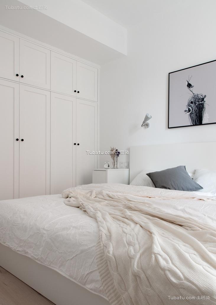 极简纯白北欧家装卧室