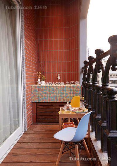 美式现代阳台设计装修图片