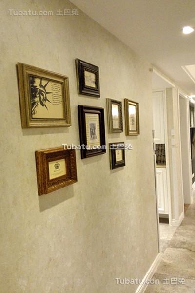 美式家装照片墙设计