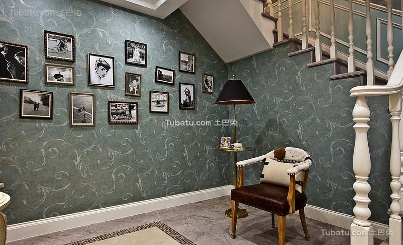 文艺复古欧式家居照片墙