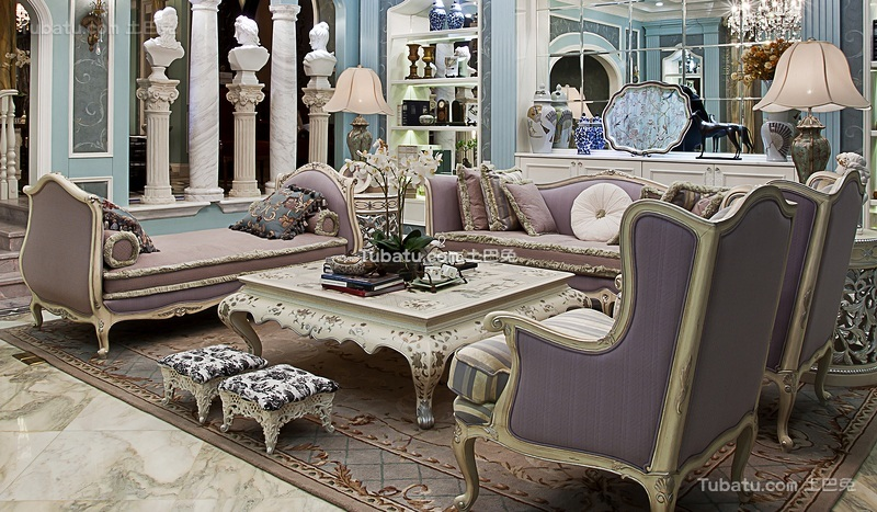 浪漫洛可可欧式客厅装饰设计