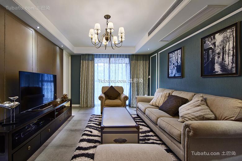 现代摩登美式客厅设计装饰