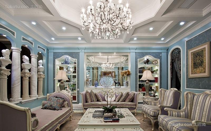 豪华复古洛可可风格欧式别墅设计