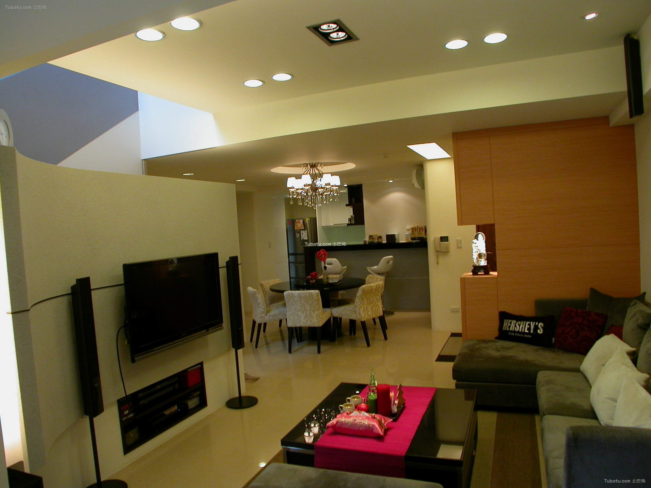 复式装修现代风格客厅设计