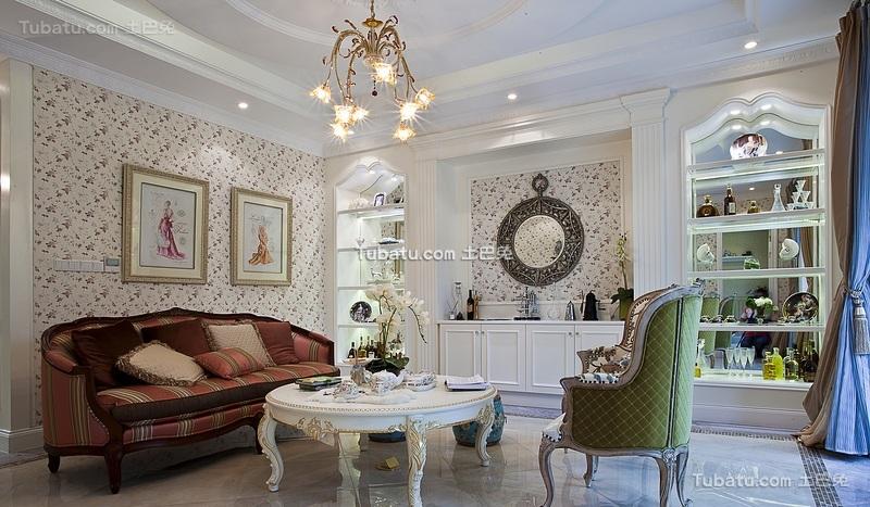 文艺复古欧式客厅欣赏
