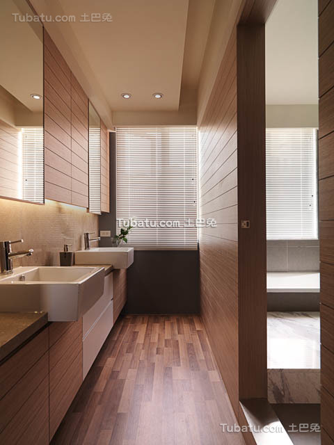 现代沉稳风格设计卫生间
