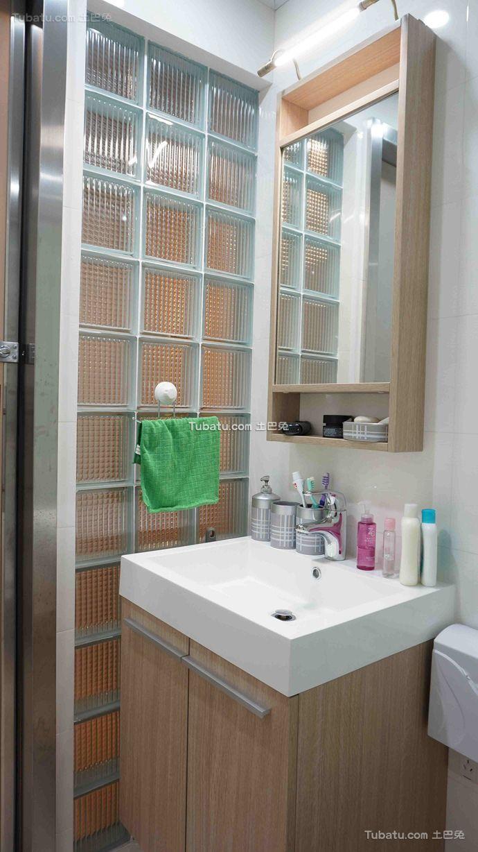 北欧简约室内卫生间设计效果图片