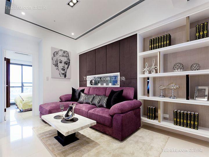 现代简约设计小户型客厅装修图片