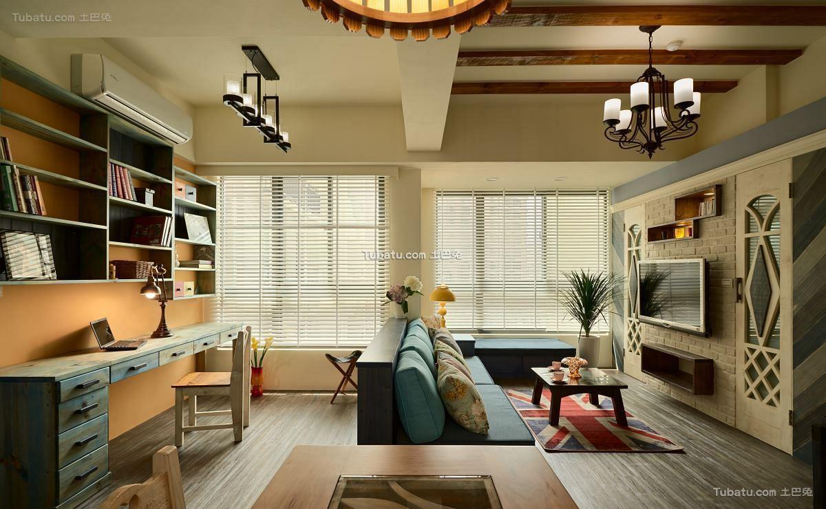 美式田园装修风格客厅设计