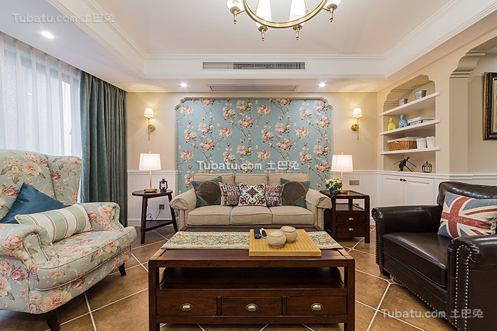 美式温馨甜美客厅设计