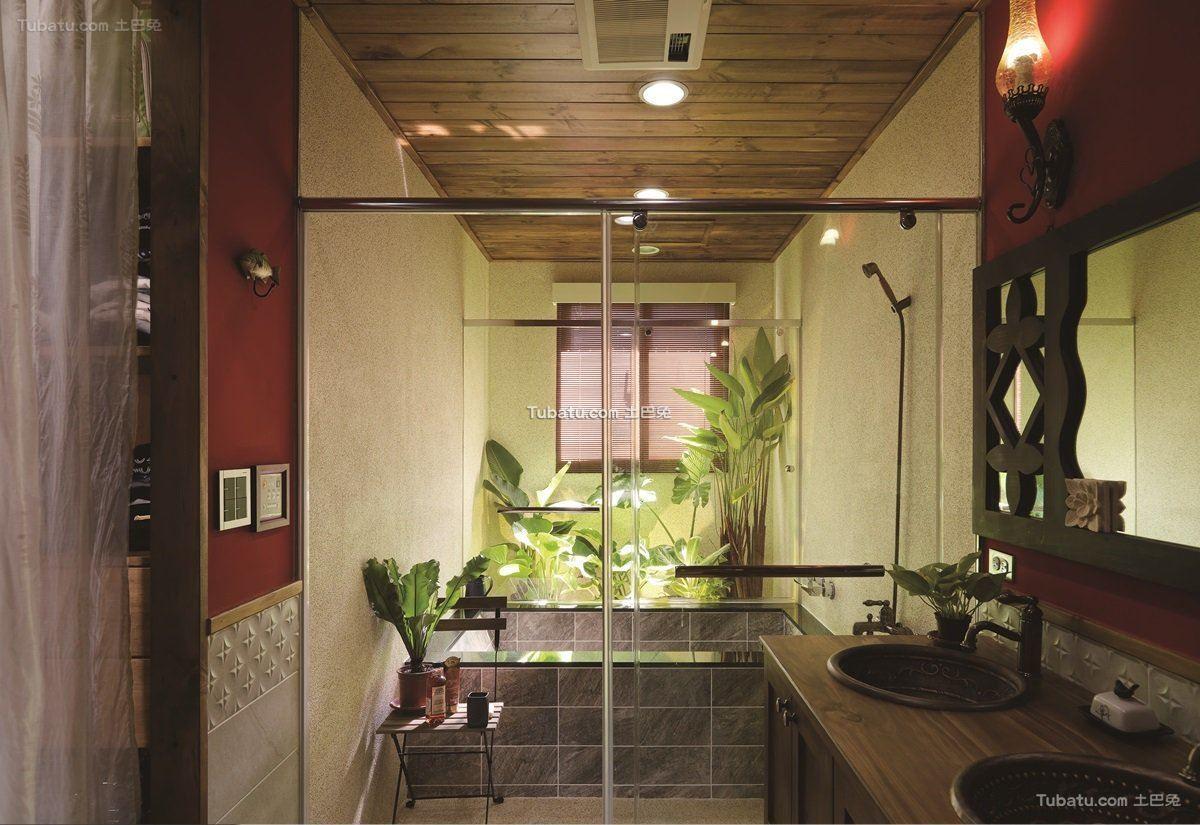 美式田园装修风格卫生间设计
