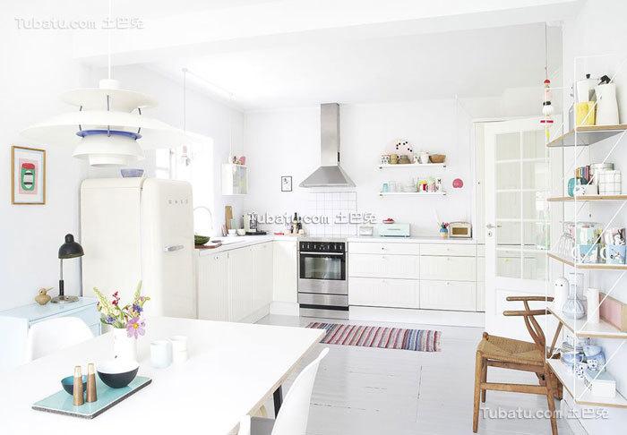 北欧U型开放式厨房大全