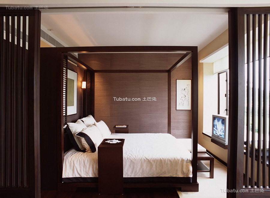 高端家装新中式卧室