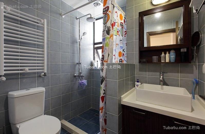 现代复古风格卫生间设计装修图片