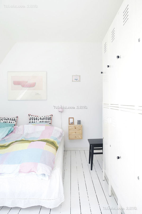 纯白家装北欧风格卧室