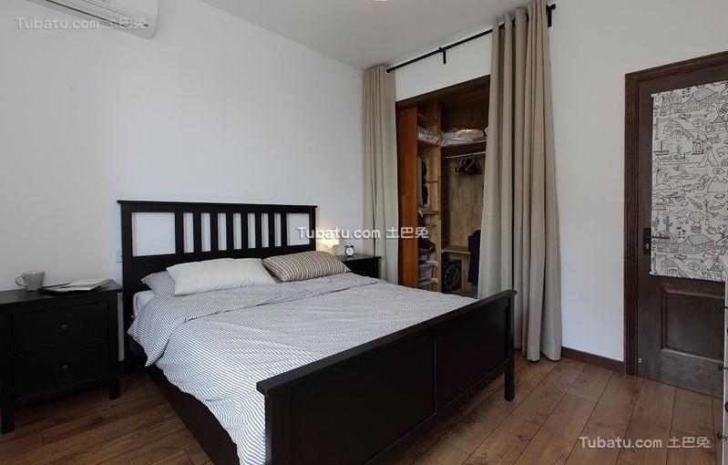 现代复古风格卧室设计装修图片