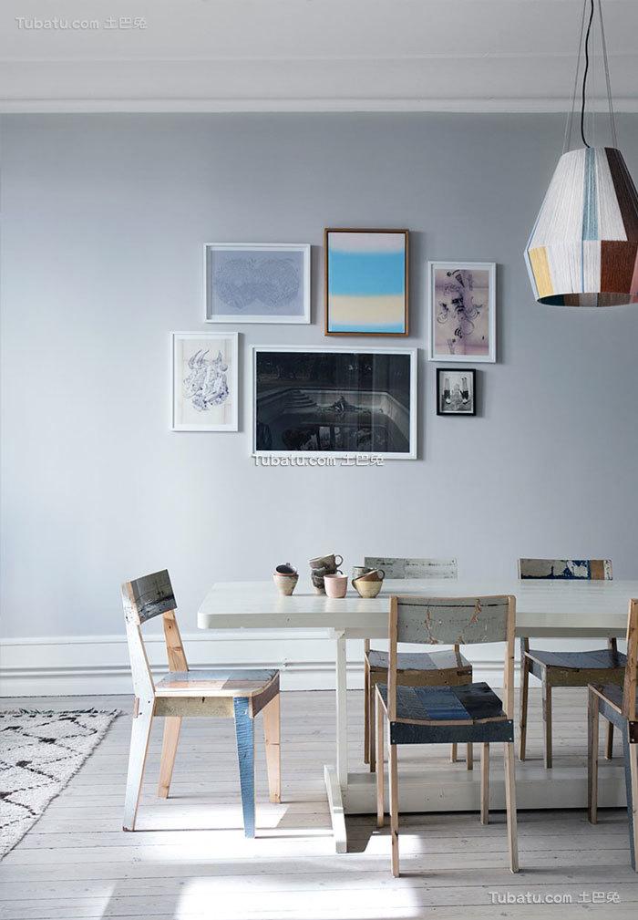 时尚创意灰蓝色北欧餐厅