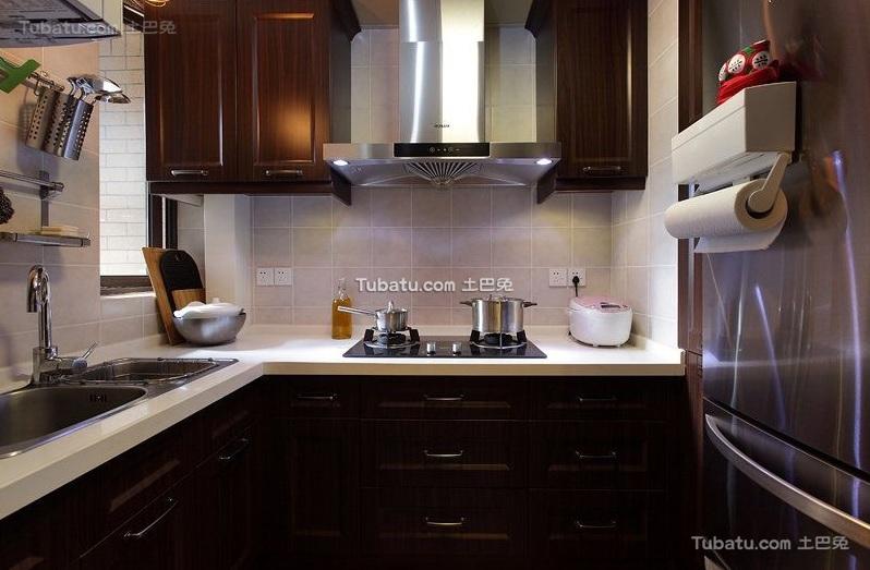现代复古风格厨房设计装修图片