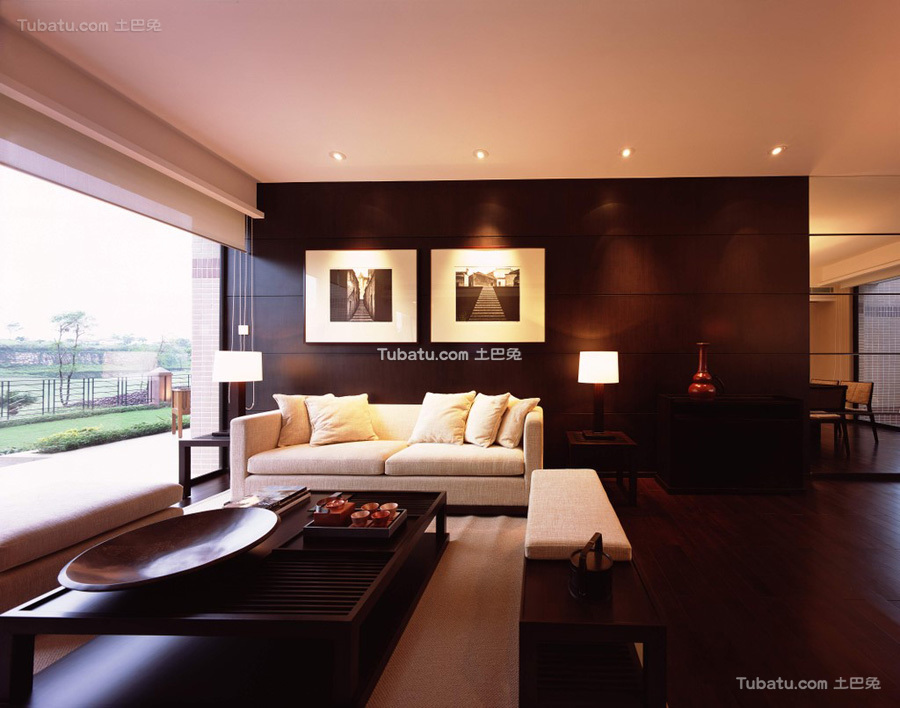 高端新中式客厅设计