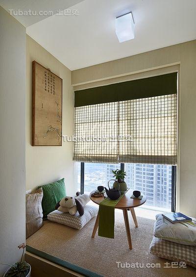 简约家居飘窗设计装修图片