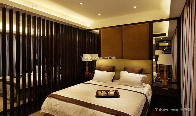 中式混搭风格卧室装修设计效果图