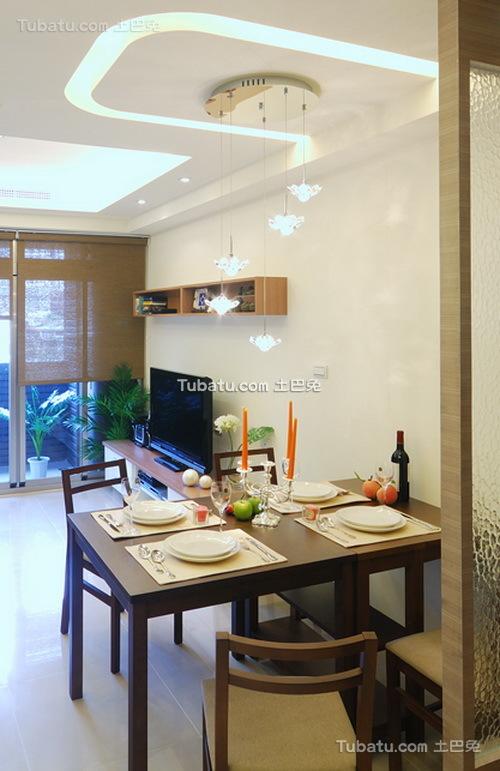 现代清新素雅装修餐厅设计