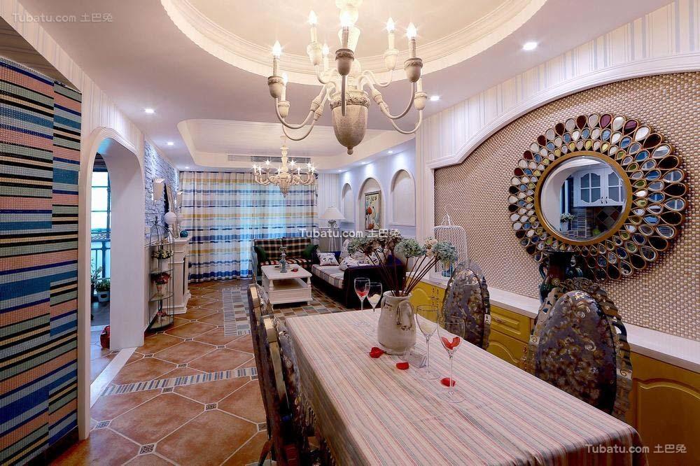 地中海风格设计家居餐厅装修效果图片