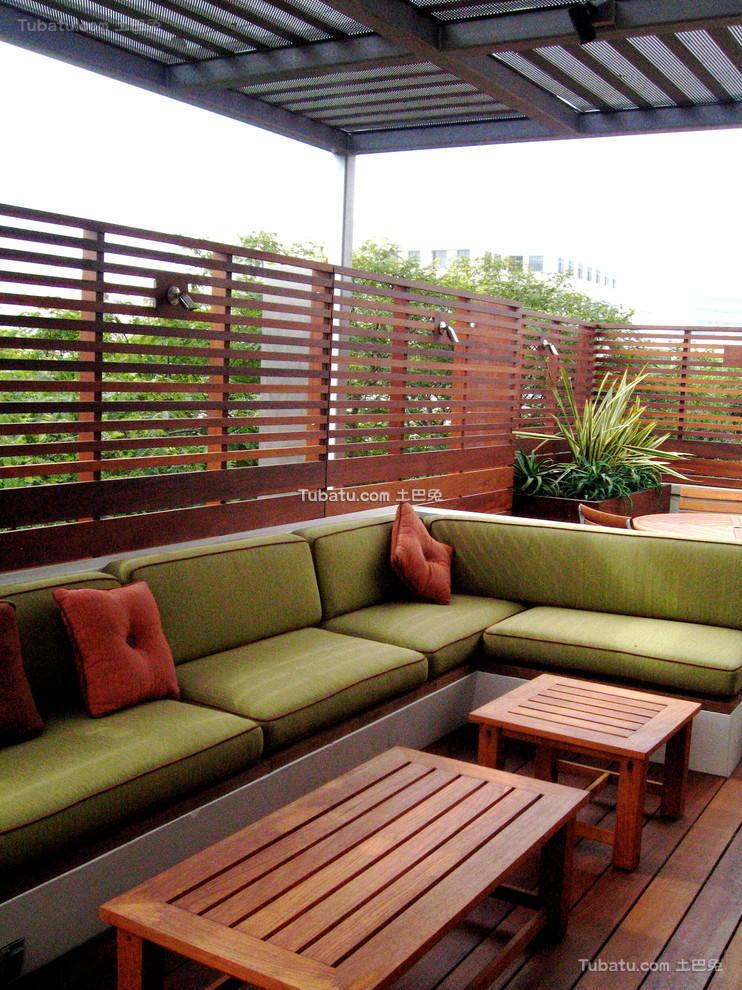 休闲小楼顶花园装修设计