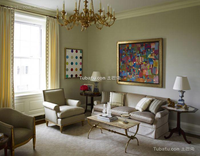 古典简欧小户型客厅设计装修图片
