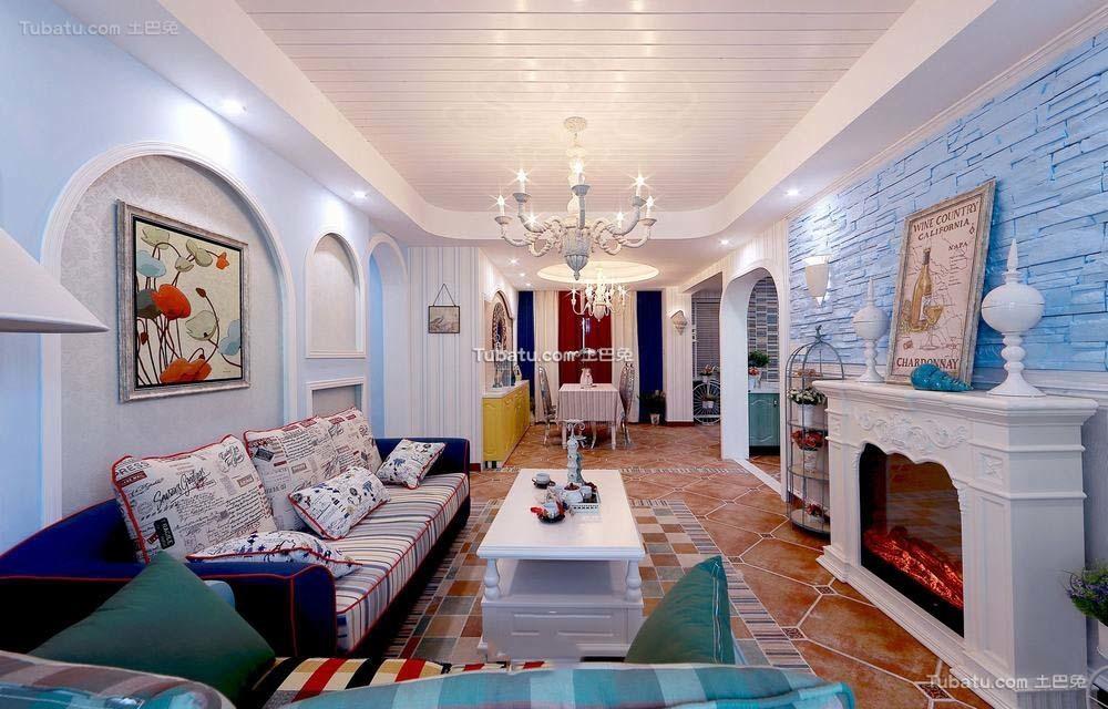 地中海风格四室两厅装修设计效果图