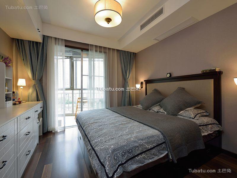 美式风格家居卧室设计装修效果图