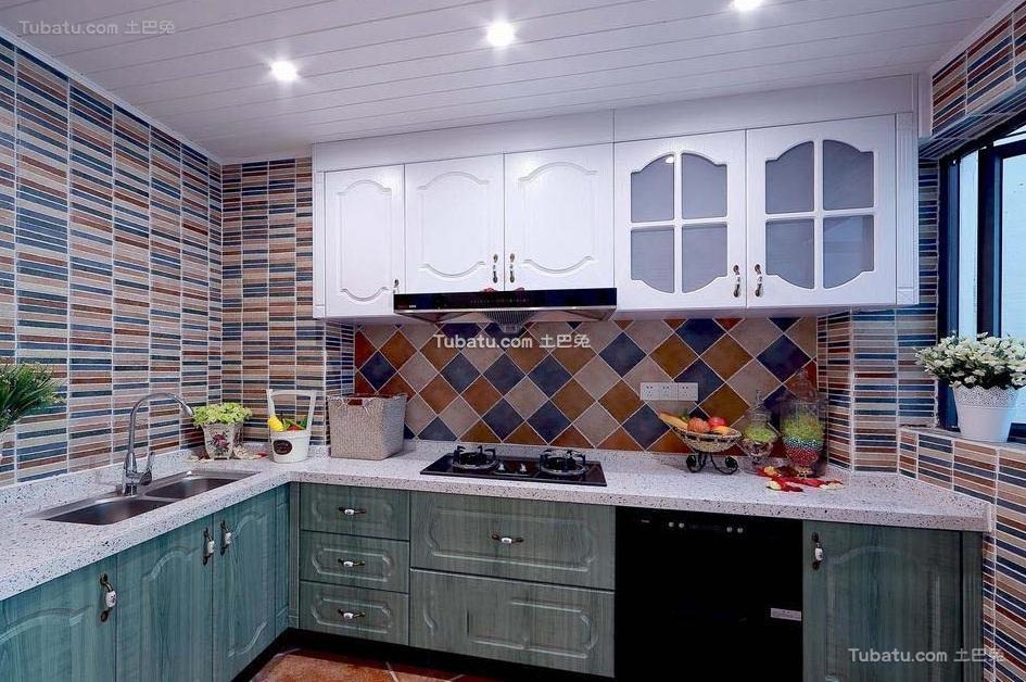 地中海风格室内厨房装修设计效果图