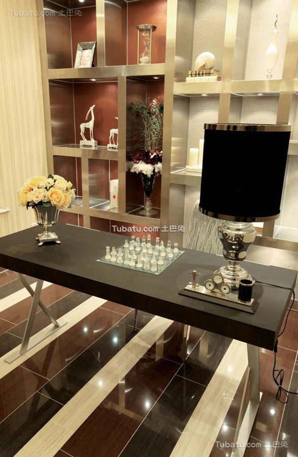 新中式时尚奢华风书房设计